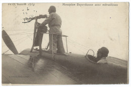 Guerre 1914 - Monoplan Deperdussin Avec Mitrailleuse - Materiale