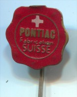 PONTIAC, Fabrication, Suisse, Switzerland, Vintage Pin, Badge - Marcas Registradas
