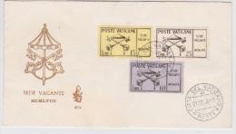 VATICANO 1958  Sede Vacante Sass. 247/49 Serie Cpl. 3v. Su Busta FDC Venetia RARA - FDC