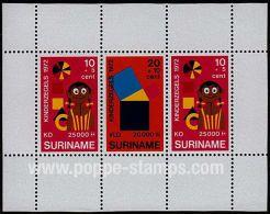 Surinam, Sc , SG MS740 Mint, Not Hinged - 1972 10+5x2, 20+10 - Child Welfare
