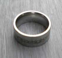 BAGUE ACIER  HOMME TAILLE 59 DIAMETRE INTERIEUR 18,9 MM - Ring