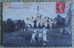 """Cpa Dpt 21 - Is sur Tille - Societe de Gymnastique """" Les Violettes """"  - 1912"""