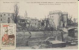 Verdun Avec Timbre Et Cachet Journée De La Meuse 4 Mars 1917 - Verdun