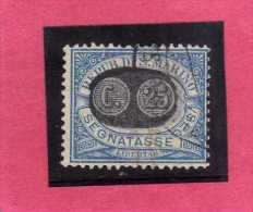 SAN MARINO 1931 SEGNATASSE DUE TASSE TAXE MASCHERINE SOPRASTAMPATO SURCHARGED LIRE 2 SU CENT. 10 USATO USED - Portomarken