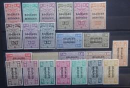 BELGIE   Reisgoed / Bagage  1935     BA 1 - 23  met spoor van Scharnier *   CW  1220,00