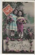 Bonne Fête/ Duo De Jeunes Enfants Avec Fleurs / 1910        CVE33 - Nouvel An