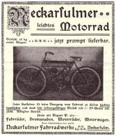 Original Werbung - 1907 - NSU Motorrad , Neckarsulm , Moto , Motorräder , Motorrad !!! - Motorräder