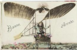 Bonne Année / Aéroplane/ Avec Enfant/ Anet/Eure Et Loir/ 1914       CVE34 - Nouvel An