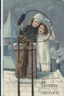 Bonne Année /Ramoneur Et Jeune Enfant Sur Cheminée// 1909       CVE35 - Nouvel An