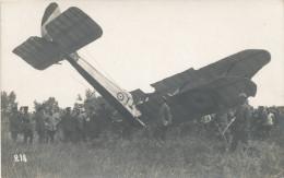 OOSTENDE / OMGEVING  1914-18 / GEALLIEERD VLIEGTUIG NEERGESCHOTEN