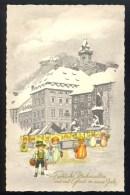 Frohliche Weihnachten Und Viel Gluck Im Neuen Jahr - Aus Osterr.Heimat, Graz ----- Postcard Traveled - Nouvel An