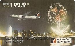 Chine China 1999 Card Air Macao MNH ** - Chine