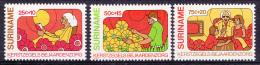 Surinam Mi.nr.:926-928 Weihnachten-Altenpflege 1980 Neuf sans Charniere / MNH / Postfris