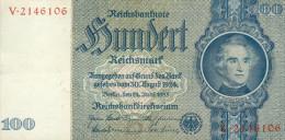 Deutschland, Germany - 100 Reichsmark, Ro. 176 B , ( Serie B/V ) 1936 - 1948 ! - 100 Reichsmark