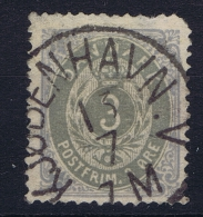 Denmark: 1875, Mi Nr 22 Y Aa Mattultramarin Grau Used   Perfo 14 Very Nice Cancel - 1864-04 (Christian IX)