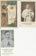 Pater Damiaan 3 Verschillende Gebedsprentjes - Religion & Esotérisme