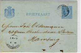 NEDERLAND - Briefkaart, Postal Stationary 1883 - Postal Stationery