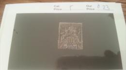 LOT 228705 TIMBRE DE COLONIE COTE IVOIRE OBITERE N�5 VALEUR 23 EUROS