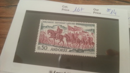 LOT 228747 TIMBRE DE ANDORRE NEUF** N�167 VALEUR 14 EUROS
