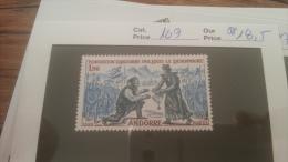 LOT 228748 TIMBRE DE ANDORRE NEUF** N�169 VALEUR 18,5 EUROS