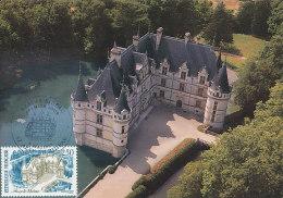 D18439 CARTE MAXIMUM CARD TRIPLE 1987 FRANCE - CASTLE AZAY-LE-RIDEAU CP ORIGINAL - Châteaux