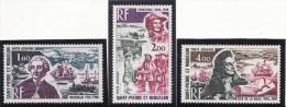 SAINT PIERRE & MIQUELON 1973 - Poste Aérienne N° 54 à 56 - Neufs** - Très Beaux (scan Recto Et Verso) - Nuevos