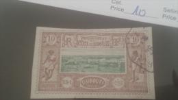 LOT 228778 TIMBRE DE COLONIE SOMALIS OBLITERE N�10 VALEUR 11 EUROS