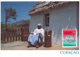 D18463 CARTE MAXIMUM CARD 1994 NETHERLANDS ANTILLES - LOCAL HAT OF CURAÇAO CP ORIGINAL - Costumes