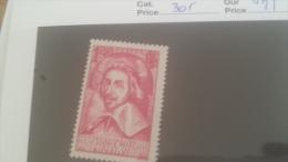 LOT 228838 TIMBRE DE FRANCE NEUF* N�305 VALEUR 25 EUROS