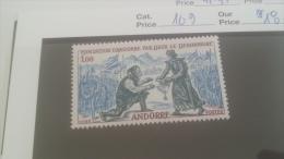 LOT 228841 TIMBRE DE ANDORRE NEUF** N�169 VALEUR 18,5 EUROS