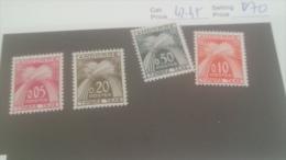 LOT 228842 TIMBRE DE ANDORRE NEUF** N�42 A 45 VALEUR 70 EUROS