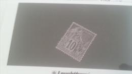 LOT 228857 TIMBRE DE COLONIE REUNION NEUF(*)  N�21 VALEUR 42 EUROS