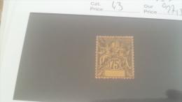 LOT 228863 TIMBRE DE COLONIE OBOCK OBLITERE  N�43 VALEUR 27,5 EUROS