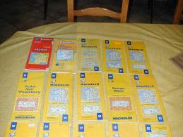LOT 10 De Cartes Routières MICHELIN  989-316LOCAL-23-54-56-57- 64-65-69-70 - Cartes Routières