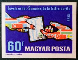 SEMAINE DE LA LETTRE ECRITE 1959 - NEUF ** - YT 1316 - MI 1628B - NON-DENTELE - Nuovi