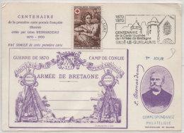 Centenaire De La Première Carte Postale Fse Illustrée Crée Par Léon Besnardeau -Flamme De SILLE LE GUILLAUME (73070) - Histoire