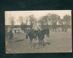 Carte Photo Saumur (49) Ecole De Cavalerie - Terrain De Manoeuvres Exercice De Lance ( Animée Militaria équitation ) - Saumur