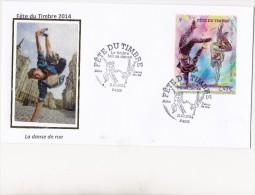 FDC 2014 -Fête Du Timbre 2014- Le Timbre Fait Sa Danse- Danse De Rue - Cachet Le 11.10.2014 à 75 Paris - FDC