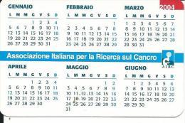 CAL593 - CALENDARIETTO 2004 - AIRC - Calendari