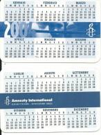 CAL599 - CALENDARIETTO 2004 - AMNESTI INTERNATIONAL - Calendari