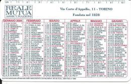 CAL601 - CALENDARIETTO 2004 - REALE MUTUA ASSICURAZIONI - TORINO - Calendari