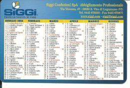 CAL602 - CALENDARIETTO 2004 - SIGGI CONFEZIONI - S.VITO - Calendari