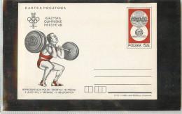 POLSKA - Cartolina Intero Postale -  SOLLEVAMENTO  PESI  -  BILANCERE - Pesistica