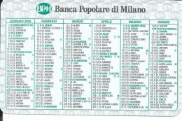 CAL604 - CALENDARIETTO 2004 - BANCA POPOLARE DI MILANO - Calendari