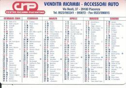 CAL608 - CALENDARIETTO 2004 - CRP VENDITA RICAMBI - PIACENZA - Calendari
