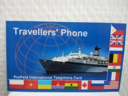 Prepaidcard Traveller's Phone 12 euro with Karton not Plastick Used