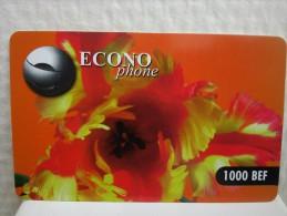 Econo Phone Flowers 1000 BEF Used Rare