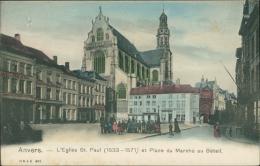 BELGIQUE ANVERS / Eglise Saint Paul Et Place Du Marché Au Bétail / - Belgique