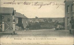 BELGIQUE BARANZY / Le Village, vue de la Halte du chemin de fer /