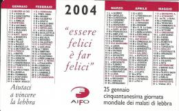 CAL616 - CALENDARIETTO 2004 - AIFO - BOLOGNA - Calendari